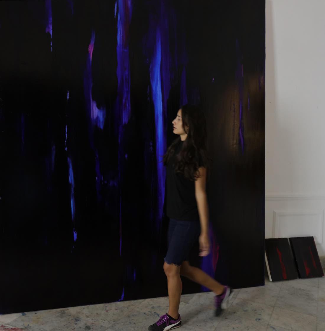 Rachel Valdés Into the Space 150x150cm